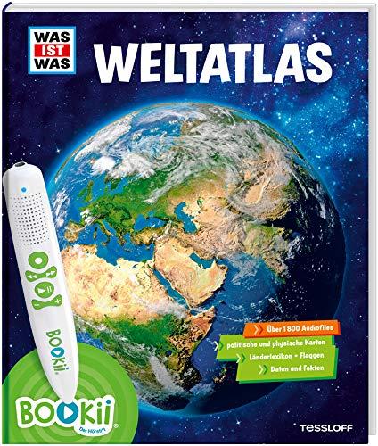 BOOKii® WAS IST WAS Weltatlas: Über 1800 Hörerlebnisse und mehr als 80 Karten, Länderlexikon mit Flaggen und Register (BOOKii / Antippen, Spielen, Lernen)