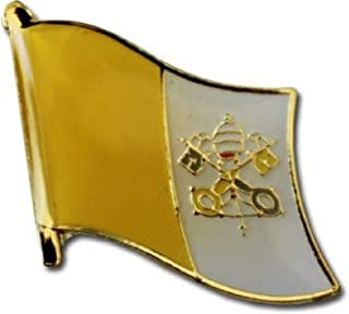ALBATROS Pack of 24 Vatican City Country Flag Lapel Pin for Bike Hat and Cap for Home and Parades, Official Party, All Weather Indoors Outdoors