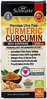 BioSchwartz, Premium Ultra Pure Turmeric Curcumin with Bioperine 1500 mg - 90 Veggie Caps