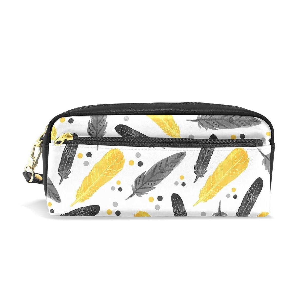 明るい地平線毎年AOMOKI ペンケース 小物入り 多機能バッグ ペンポーチ 化粧ポーチ 男女兼用 ギフト プレゼント おしゃれ 羽模様