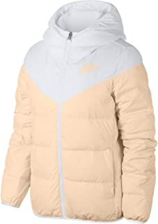Womens Down Filled Reversible Windrunner Jacket White/Guava Ice 939438-100 Size X-Small