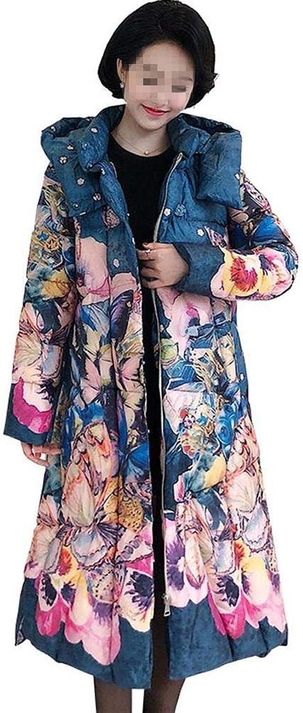 Dotoo Winter Long Warm Cotton Temperament Fashion MiddleAged Women's Cotton Jacket