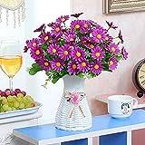 Fleurs artificielles artificielles, fleurs artificielles, fleurs artificielles, rosiers en plastique, jardin rose soie, 33 cm, bouquet de fleurs de mariage pour la maison, jardin, fête, 25