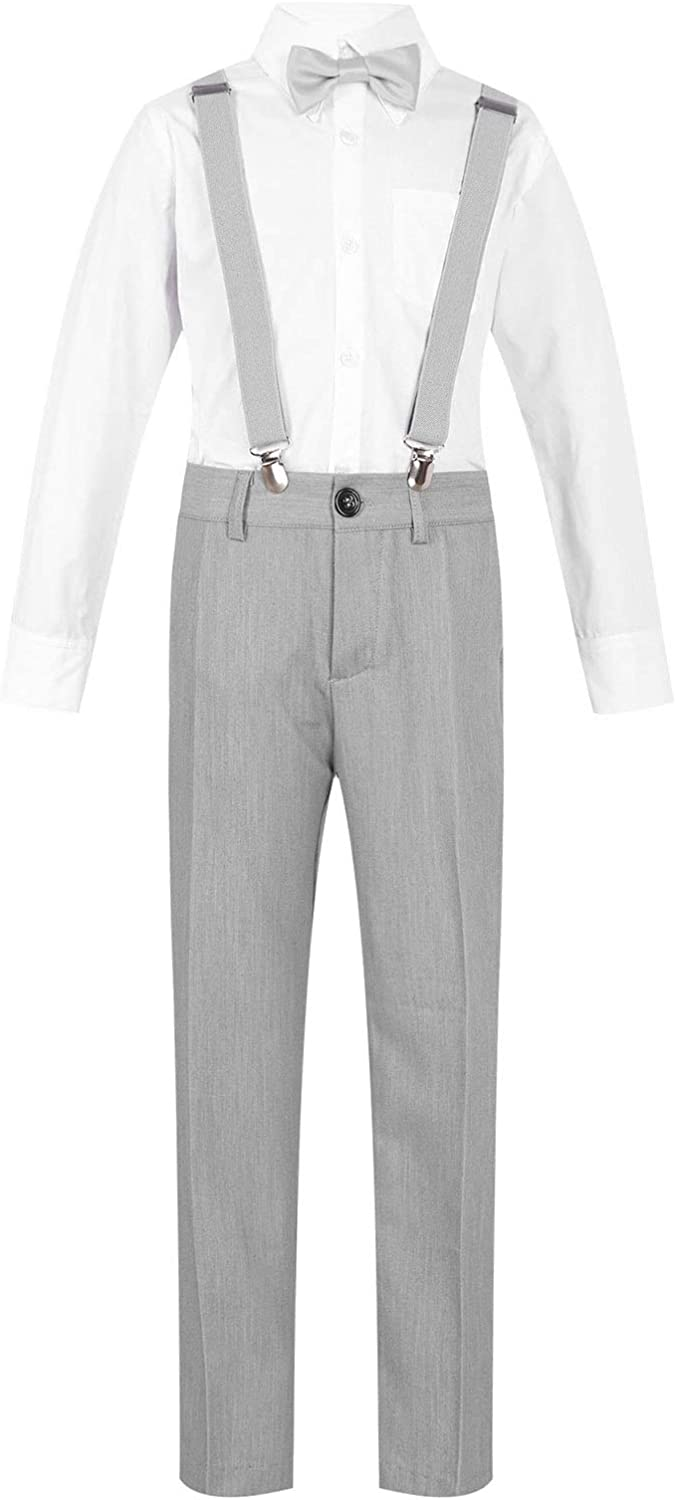 YONGHS Boys 4 Pieces Suits store Slim Pants + Dress Outfits Discount is also underway Shirt Fit