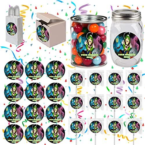 Luigi's Mansion Party Favors Supplies Decorations Stickers 12 Pcs