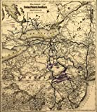 1872 Map showing the Sodus Point & Southern Railroad and its connections. Map of the northeastern United...