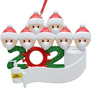 Christmas Ornament,2020 Personalized Survivor Family of 2, 3,6, 7Christmas 2020 Holiday Decorations DIY Name Blessing Resi...