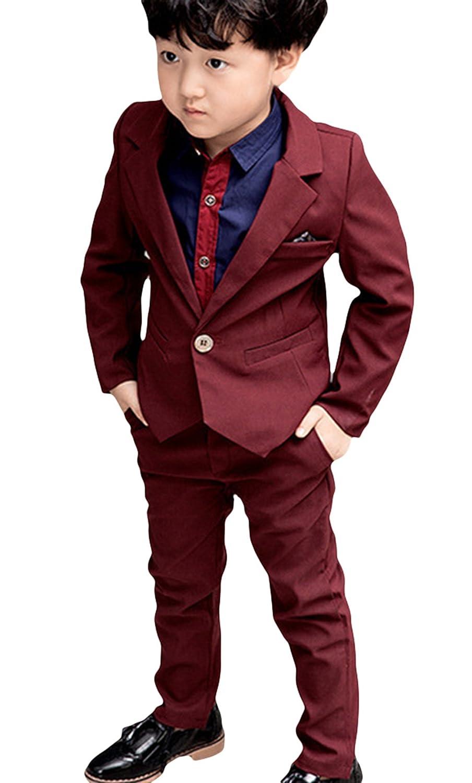C-Princess フォーマルスーツ タキシード 洋服 子供服 男の子 キッズ ジャケット ズボン 2点セット 長袖 入学式 卒業式 発表会 演奏会