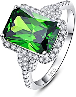 925 Sterling Silver Created Mystic Rainbow Topaz CZ Halo Engagement Wedding Ring for Women