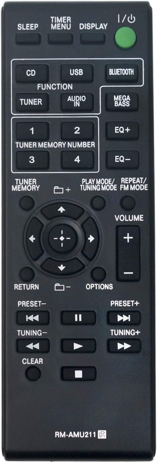 New RM-AMU211 RMAMU211 Replacement Remote Control fit for Sony Home Audio System MHC-ECL99BT MHC-ECL77BT SS-WG919IP SS-WEC99BT HCD-ECL99BT SS-EC719IP SS-ECL77BT HCD-ECL77BT