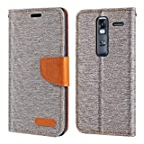 LG Zero Case, Oxford Leather Wallet Case with Soft TPU Back