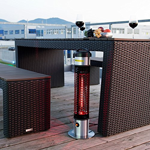 Semptec Tisch-Heizstrahler: Wetterfester 360°-IR-Standheizstrahler/Heizsäule IRW-800, IP55, 800W (Beistell Heizstrahler) - 5