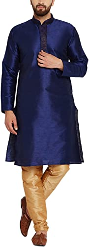 Sojanya Hommes's Silk Kurta Pyjama grand Royal bleu And or
