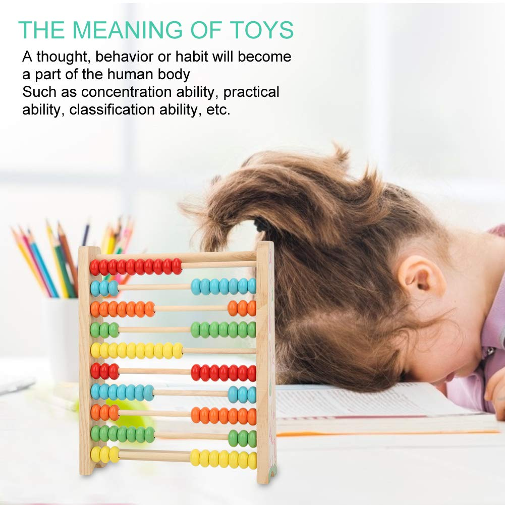 Kid Wooden Abacus Made of Quality Material Improve Visual Training ...