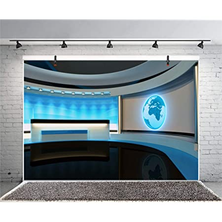 CSFOTO 5x3ft Studio Backdrop News Broadcasting Background for Photography Concert Interview Weather Forecast Program Decor Display Screens Interior Decoration Adults Portraits Wallpaper