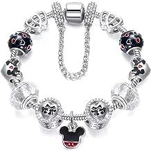 Disney Style Mickey Pendant Silver Plated Charm Bracelet Pandora Elements - Cartoon Series 01