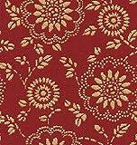 Raumausstatter.de Möbelstoff ROHRBACH 149 Blumenmuster rot