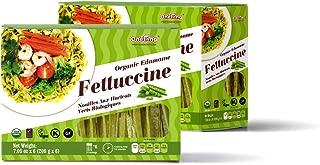ONETANG Organic Edamame Fettuccine, High Protein Noodle, 6 Individual Pack Inside, Hight Fiber, Gluten Free Pasta - USDA Certified Organic, BRC, Vegan, Kosher, Non GMO, 42.3 Oz ( 6 × 200 g )