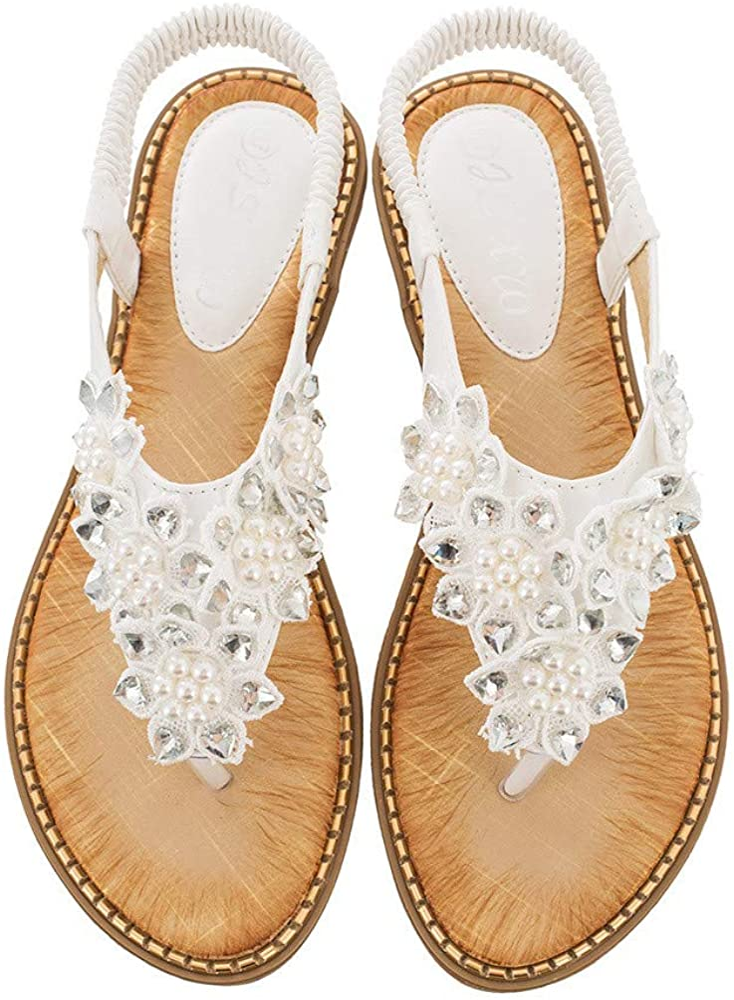 Over item handling ☆ Dizadec Sandals for Women Wide Beach security Width Women's Bohemi Summer