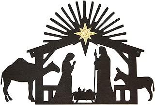 Inspirational Word Art, Christian Faith Biblical Verse Wall Sign, Hand-Made Wooden Decoration Plaque for Home, Office, Church (Nativity)