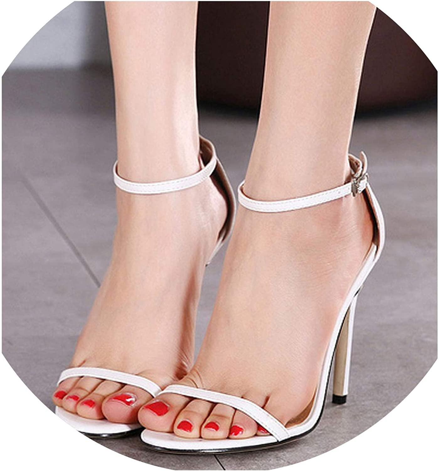 Ankle Strap Summmer shoes Women's Sandals High Heels Fashion Ladies shoes Four colors