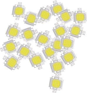 lampadina - SODIAL(R) 20pz 10W LED bianco puro ad alta potenza 1100LM LED SMD lampada del circuito integrato Lampadina DC 9-12V
