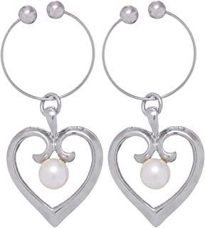 GrandUAE Women's Alloy Earring - Heart Shaped, Multi Color