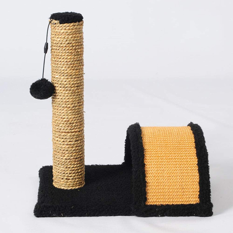 Play Tower Stumps, Catch Cats Climb Small and Medium Cats Grab Columns Sharpeners (35  28  40 cm),Black,35  28  40cm