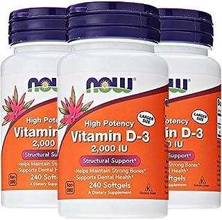 Vitamin D-3 2000 IU - 240 Softgels (Pack of 3)