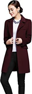 西琦尔 欧美高端双面羊绒大衣女中长款秋冬新品纯手工毛呢大衣女装羊毛外套 15D003