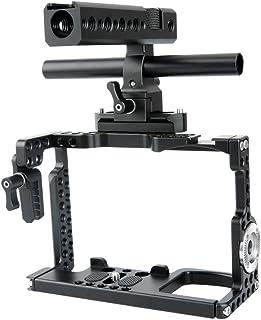 NICEYRIG カメラケージ Sony A7III/A7MIII/A7RIII/A7II/A7RII/A7SII専用 カメラケージキット NATOハンドルHDMIケーブルロックNATOレールARRIロゼット15mmロッド付き ―144