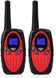 Funkprofi Walkie Talkies for Kids 22 Channels Long Range Rechargeable Two Way Radio, Best Birthday Gift for Boys and Girls, 1 Pair