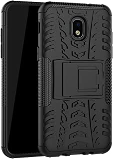 Yiakeng Samsung Galaxy J3 Orbit Case,J3 Star,J3 2018,J3 Achieve,J3 Express Prime 3,Amp Prime 3, Shockproof Protective with Kickstand Phone Cases (Black)