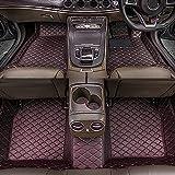 Dinuoda Alfombrillas de coche para BMW serie 7 2004-2008 rodeadas de protección contra todo tipo de clima, antideslizante, impermeable y resistente al desgaste, alfombrillas de cuero (negro rojo)