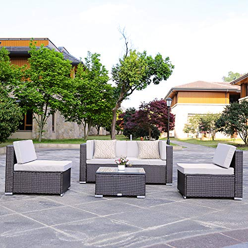domi outdoor living 5-Piece Sectional Patio Furniture Set,...