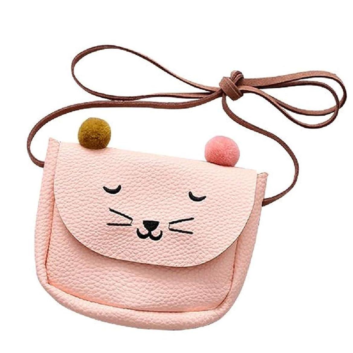 め言葉踊り子隔離Kingsie キッズ ショルダーバッグ ポシェット 財布 かわいい 猫柄 コンパクト 斜め掛けバッグ 小銭入れ 小物入れ 子供 女の子