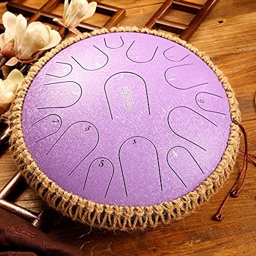 Ocarina Tambor De Lengua De Acero De 13 Pulgadas Y 15 Tonos D Key Hand Pan Drum Handheld Tank Drum Instrumento De Percusión Yoga Principiantes Amantes De La Música