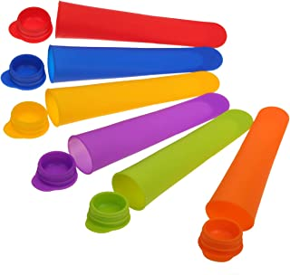 Silicone Popsicle Molds Ice Pop Maker - 1/2 Cup Capacity - Set of 7- with Funnel & Clean Brush - Easy to Release - BPA Free - Dishwasher Safe