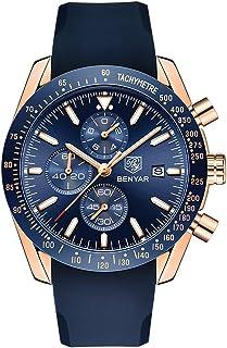 XBKPLO Mens Quartz Watch,Sport Multifunction Waterproof Luxury Six Pin Analog Wrist Calendar Window Watches Silicone Strap