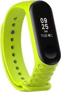 YANGSANJIN Rastreador de Actividad a Prueba de Agua, para Silicona Xiaomi Band 4 Strap, Pulsera de mijo Compatible 2019 Mi 4 Pulsera para Hombres/Mujeres Xiaomi 4 Smartwatch Accesorios (c