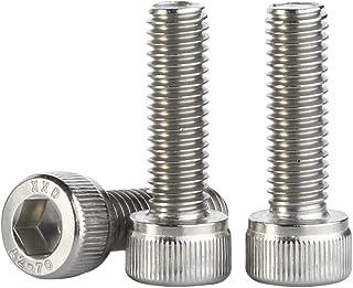 M8-1.25 x 30MM Socket Head Cap Screw, Full Thread Screws, Allen Socket Drive, Stainless Steel 18-8, Bright Finish, Quantity 20