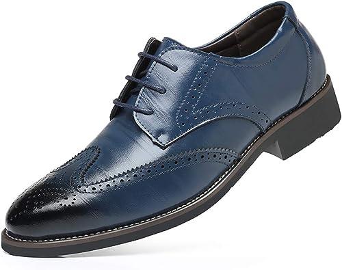 Sunonip Designer Formelle Hommes Hommes Robe Chaussures en Cuir véritable Classique Brogue Chaussures ApparteHommests Oxfords pour Le Bureau de Mariage  commandez maintenant profitez de gros rabais
