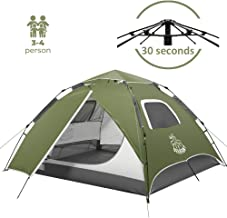 DEERFAMY Pop Up Tents, 3-4 Person Instant Tents for Camping, Waterproof Automatic Tent, Dome Tent for Family Beach Outdoor