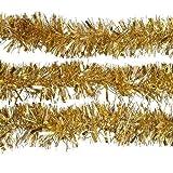 Deliziosa decorazione natalizia per albero di Natale, Lametta Garland Gold, comoda e durevole