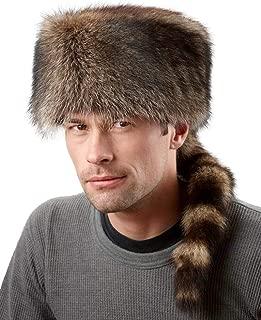 frr Raccoon Fur Coonskin Cap