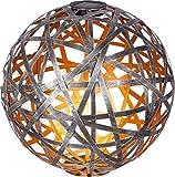 Dehner Solar-Kugelleuchte Malabo, warmweiß, Ø 40 cm, Metall/Kunststoff, Silber/Kupfer