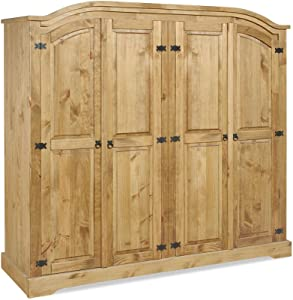 Seconique Mercer's Furniture Corona Armoire 4 Portes