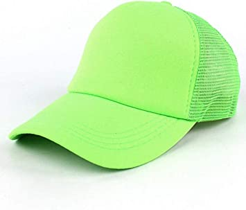 NMT fluoreszierender Hut Frauen Snap Cap Baseball Hut Verstellbarer Sonnenschutz Sonnenhut Frauen///Trucker Cap Neon Mesh Hut fluoreszierend gr/ün