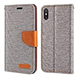 Xiaomi Mi 8 Pro Case, Oxford Leather Wallet Case with Soft