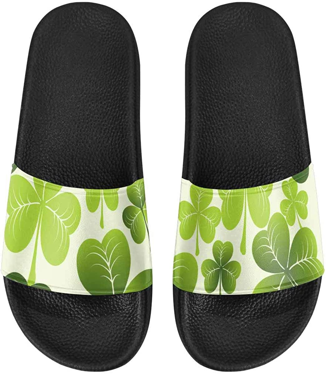 InterestPrint Women's Lightweight Slipper Sandals for Shower Happy St. Patrick's